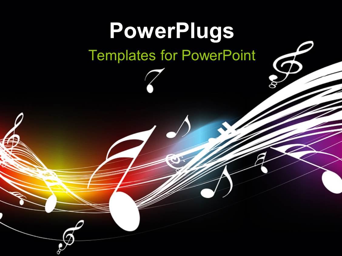 music themed powerpoint templates powerpoint template music symbols floating over curves on