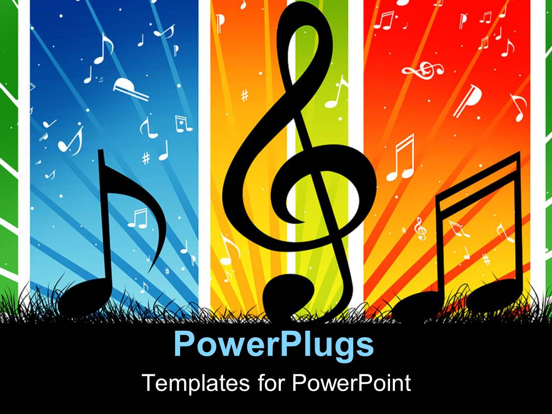 music themed powerpoint templates - powerpoint template music themed background with cool
