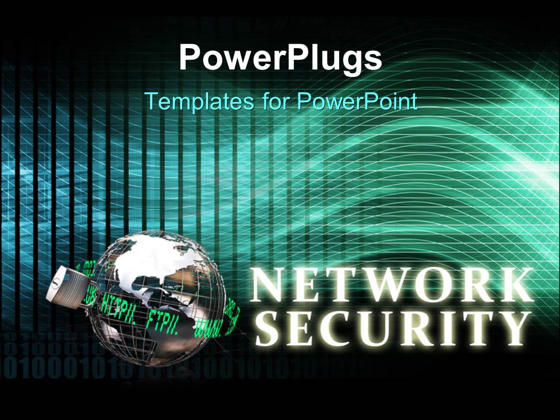 Powerpoint template words are you secure in 3d showing that a a theme with network security concept with locked 3d globe and keyword toneelgroepblik Image collections