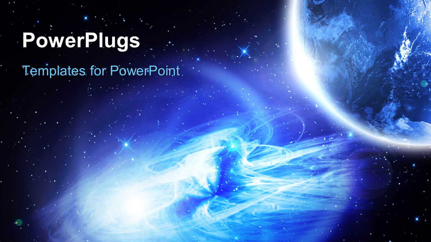 Planets powerpoint templates crystalgraphics powerplugs powerpoint template with night vision of the planet earth with galaxy and glowing stars toneelgroepblik Gallery