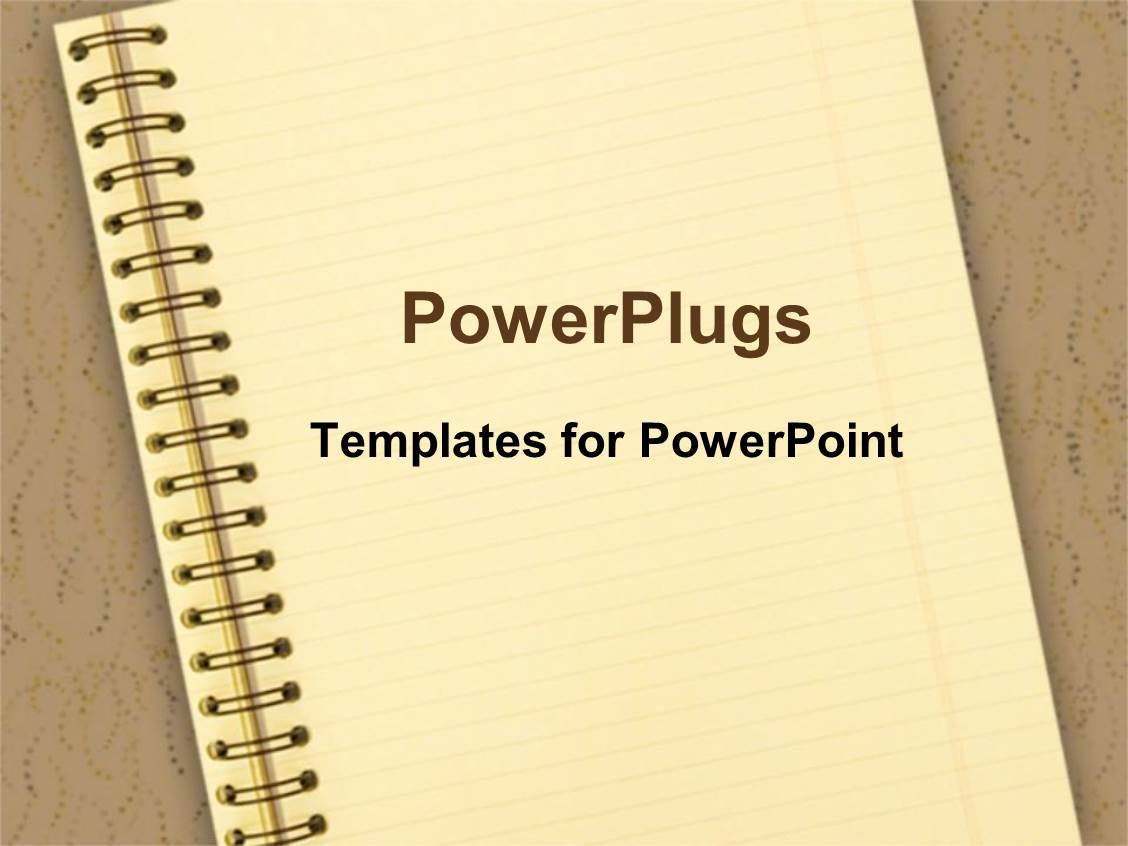 Report card powerpoint templates crystalgraphics powerplugs powerpoint template with notebook on brown background school education toneelgroepblik Choice Image