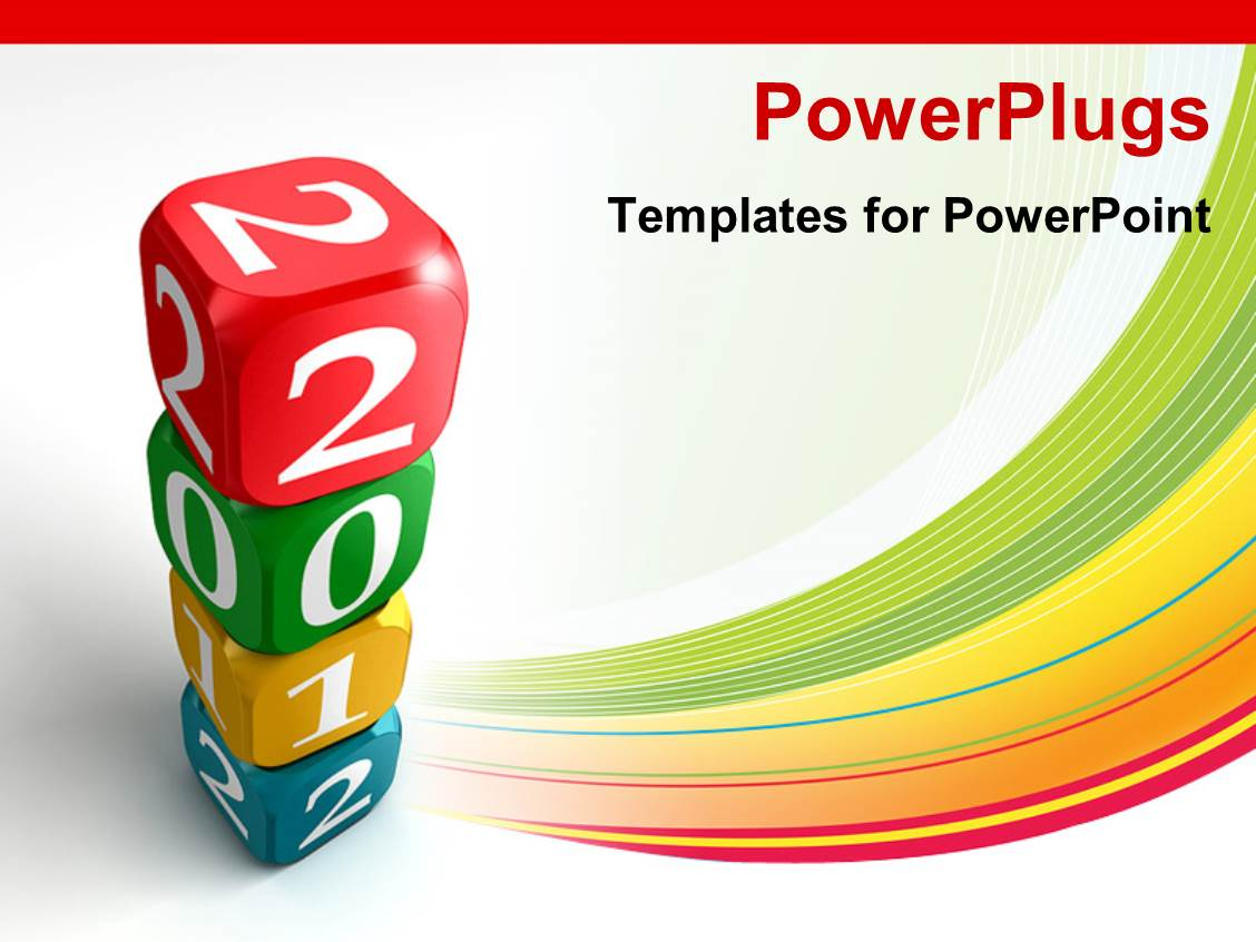 powerpoint template number of boxes with white background