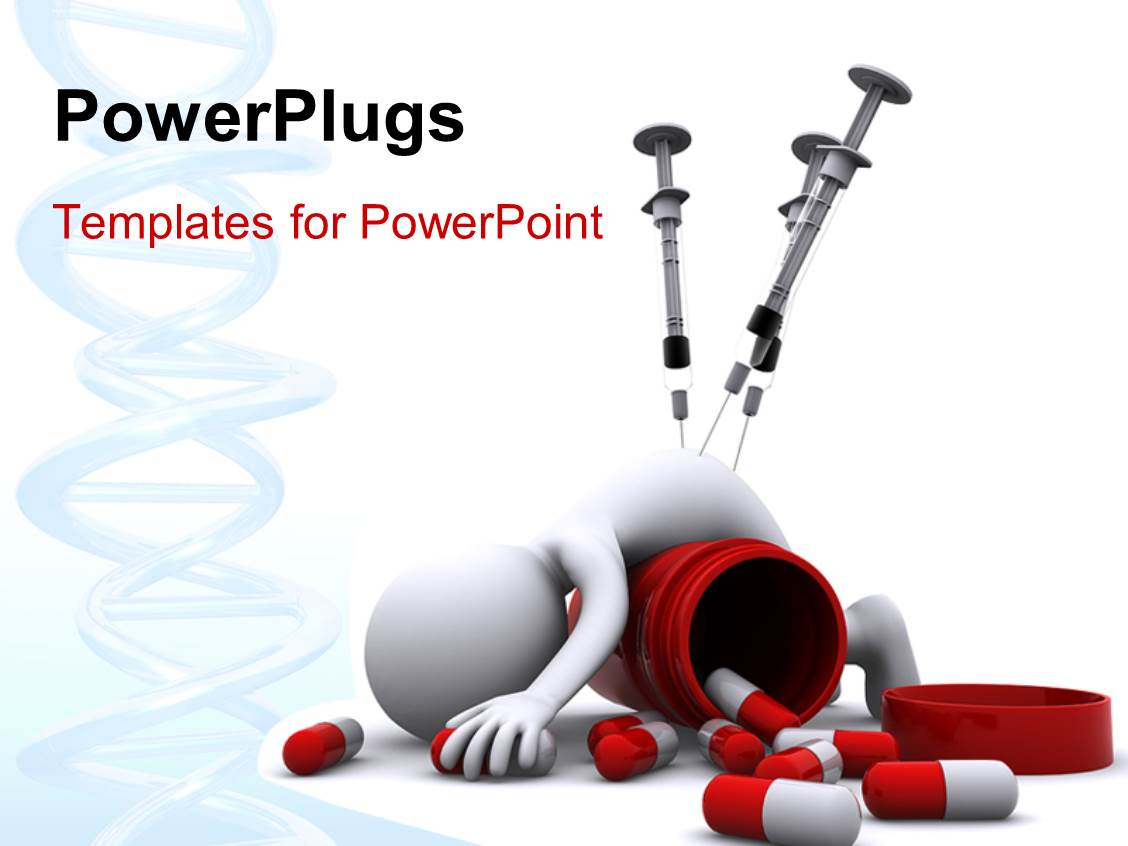 Powerpoint template a number of capsules with a person for Power plugs powerpoint templates