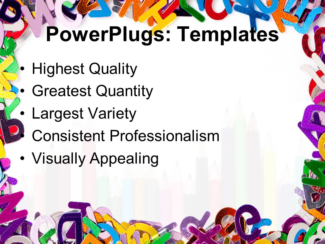 PowerPoint Template A Number Of Color Pencils With