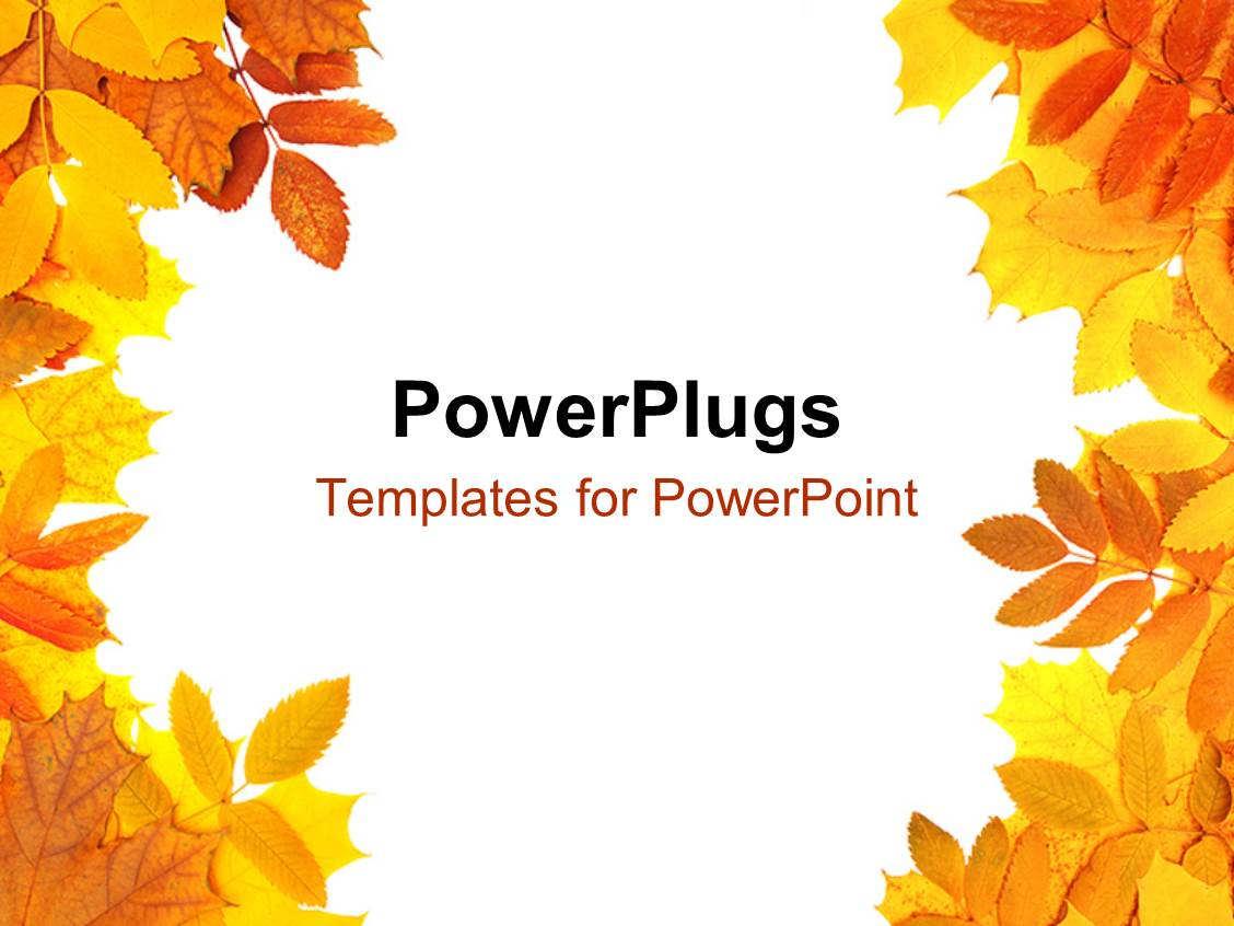 Autumn Leaf Frame Powerpoint Collection 8 Wallpapers