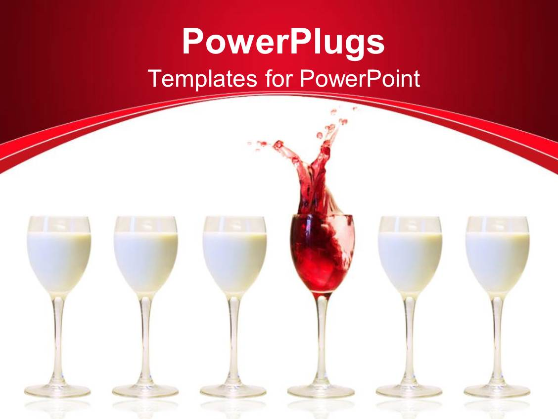 Powerpoint template a number of milk glasses with a one of wine powerpoint template displaying a number of milk glasses with a one of wine toneelgroepblik Gallery