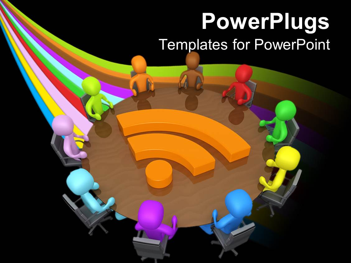 network concept communication powerpoint templates capital of, Modern powerpoint