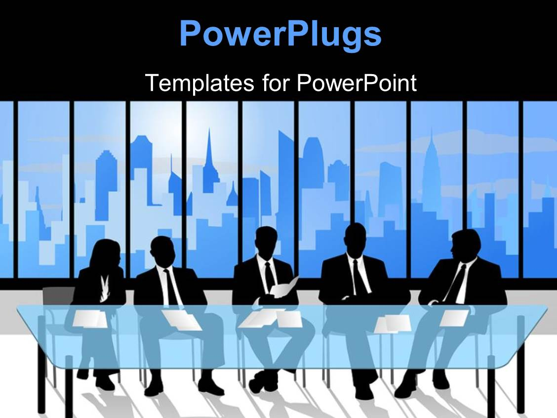 powerpoint template: a number of people waiting for the interview, Powerpoint templates
