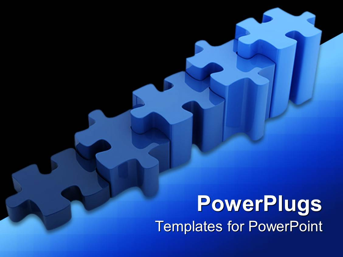 Powerpoint template a number of puzzle pieces together for Power plugs powerpoint templates
