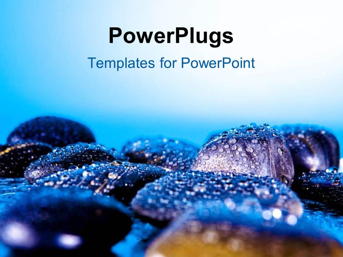 Powerpoint template a number of zen stones with bluish background powerpoint template displaying a number of zen stones with bluish background toneelgroepblik Choice Image