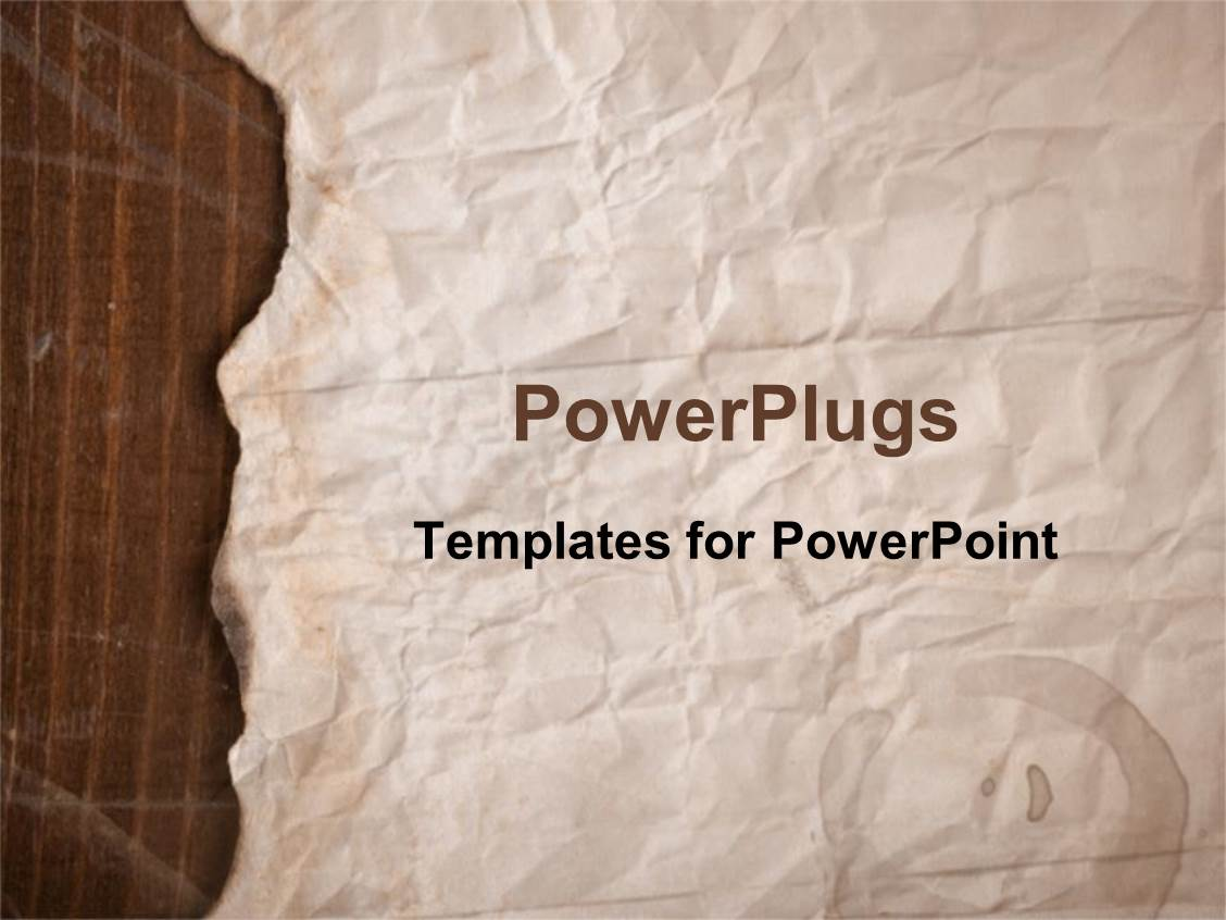 Powerpoint template old fashioned worn down red scroll paper with design enhanced with old brown paper with slightly burnt edges toneelgroepblik Choice Image