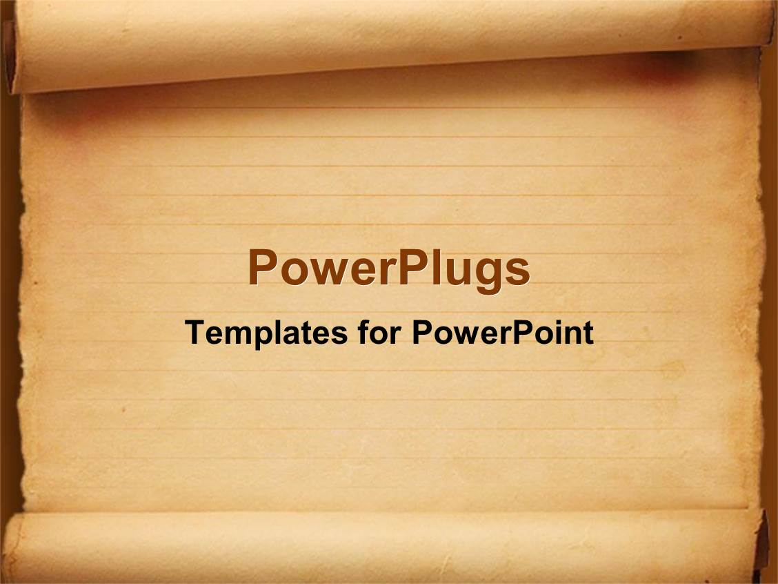 powerpoint template: old fashioned worn down red scroll paper with, Powerpoint templates
