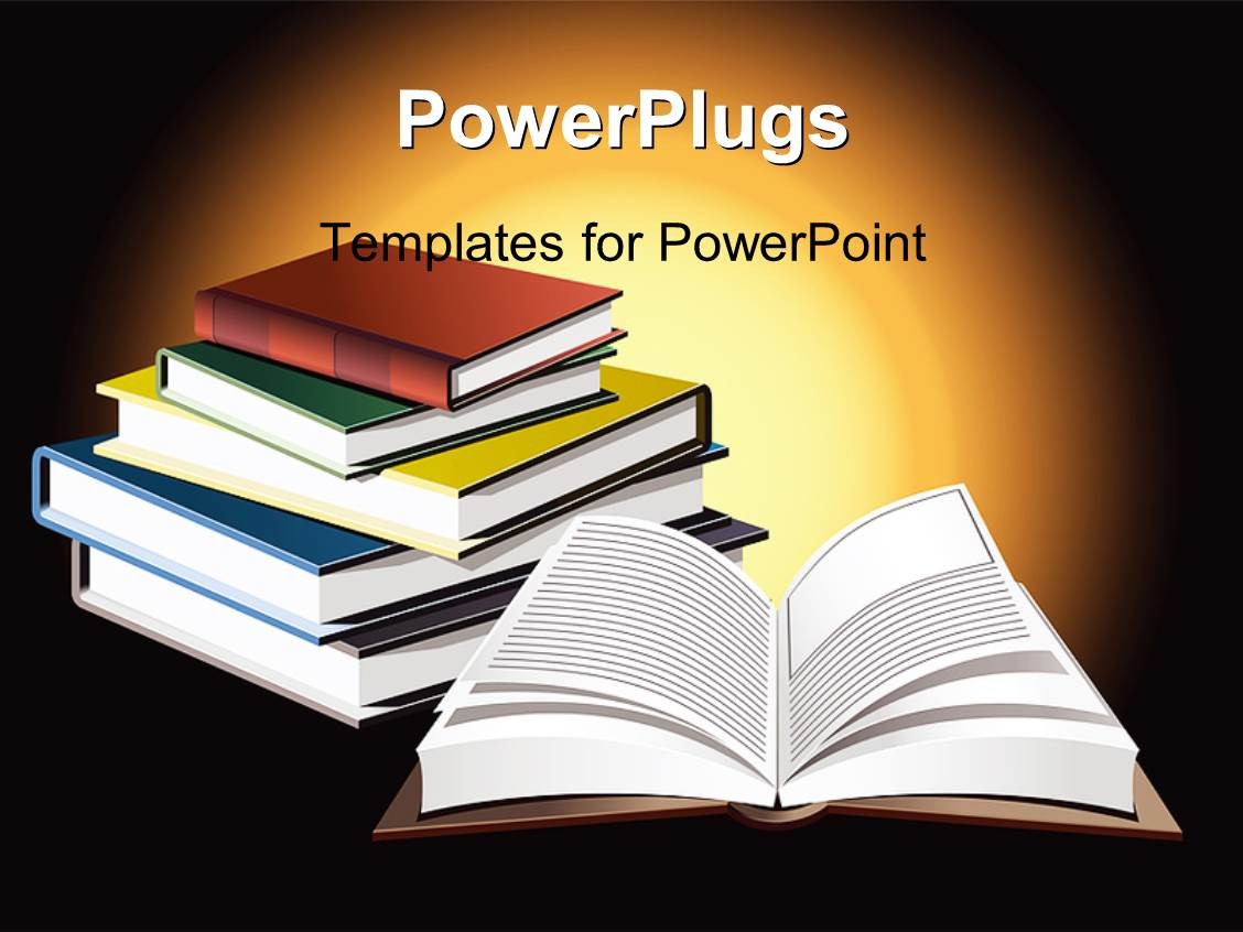 powerpoint template open book with rays in background 22564
