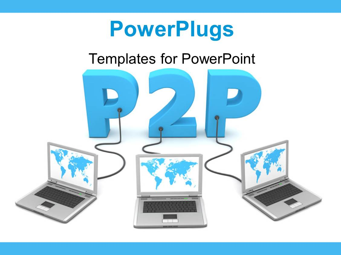 Pirate powerpoint templates crystalgraphics ppt theme with p2p concept having different laptops connected to each other with white color template size toneelgroepblik Choice Image