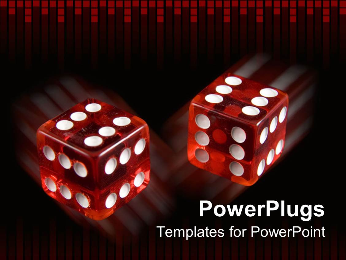 Free powerpoint templates 2529 html free ppt powerpoint templates - Powerplugs Powerpoint Template With Pair Loaded Dice With Six On Every Side