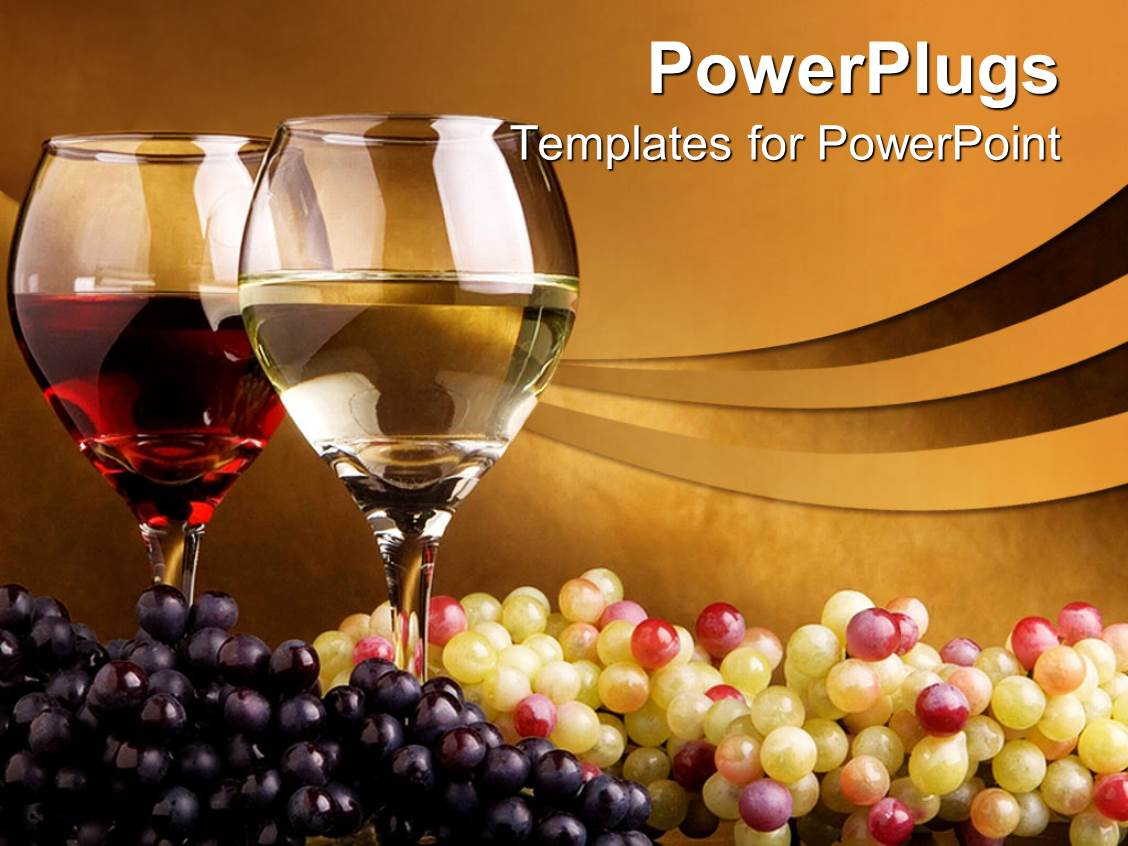 Powerpoint template pair of wine glass filled with wine and bunch powerpoint template displaying pair of wine glass filled with wine and bunch of white and black toneelgroepblik Image collections