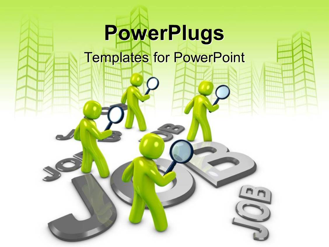 powerpoint template people looking for job options vector ppt template he words get help here symbolizing the need to offer support and answers
