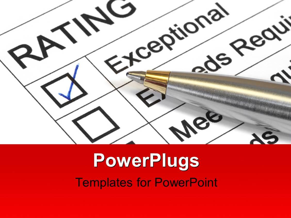powerpoint template: performance appraisal customer service rating, Presentation templates