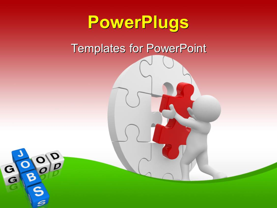 Jigsaw PowerPoint Template Backgrounds  06532