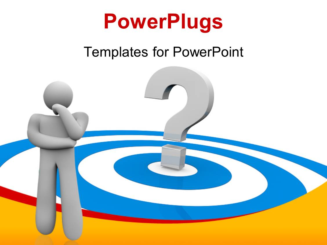 powerpoint template a person who is confused with a