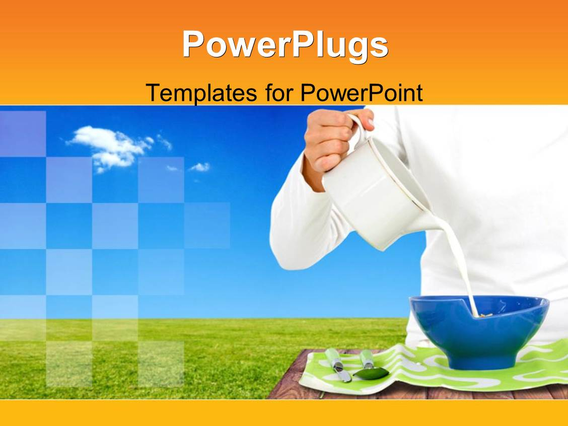 got milk template - powerpoint template a person pouring a jar of milk into a