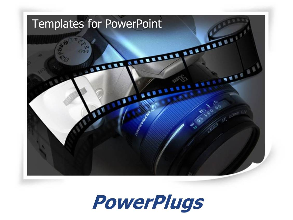 powerpoint template photography with film and slr camera