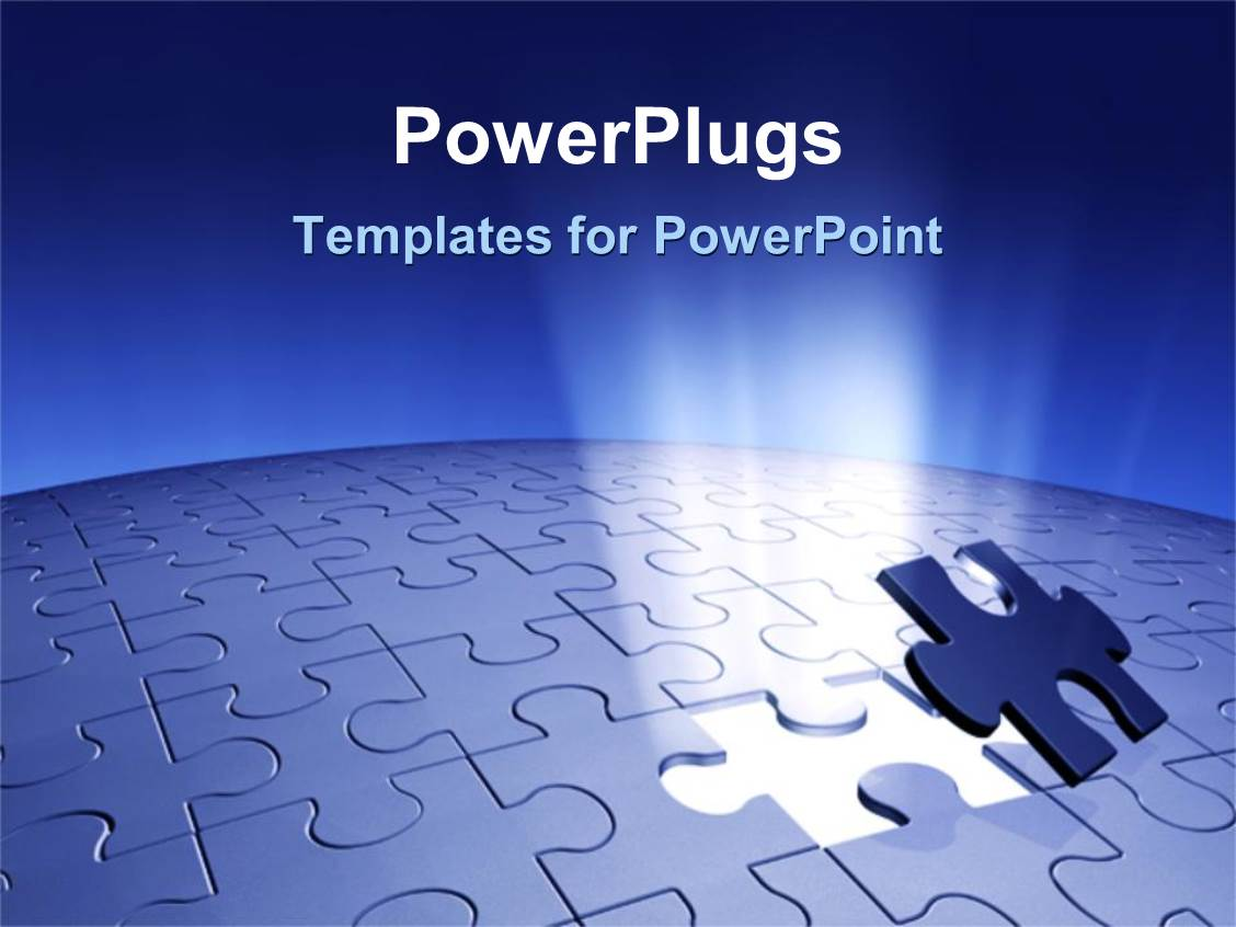 Powerpoint template piece of puzzle missing problem and solution powerpoint template displaying piece of puzzle missing problem and solution business planning blue background toneelgroepblik Choice Image