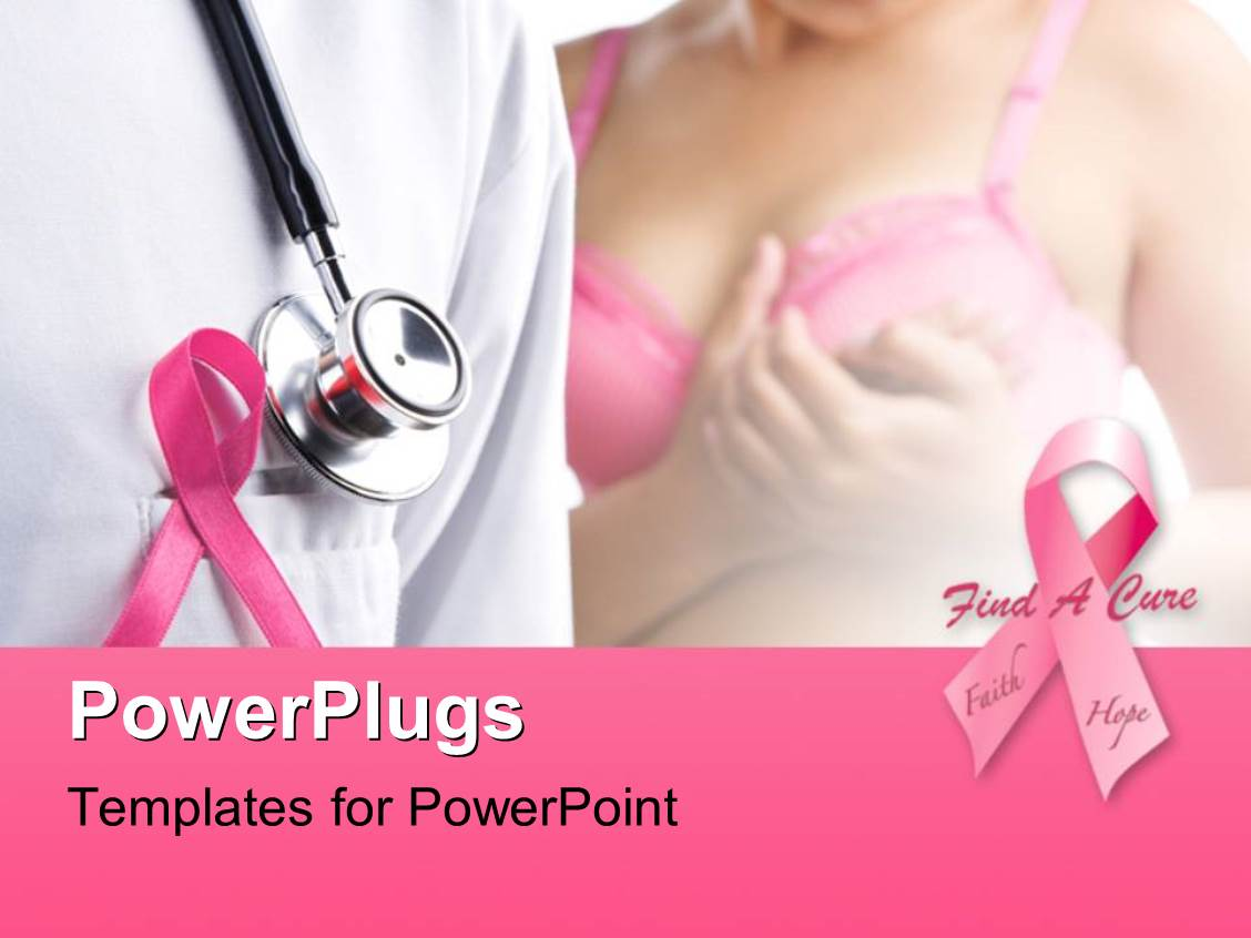 breast cancer powerpoint template free download - powerpoint template pink ribbons depiction breast cancer