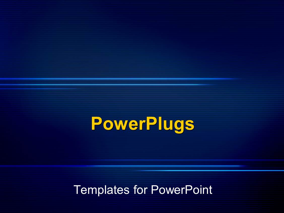 powerpoint template a plain deep blue background display With powerplugs templates for powerpoint