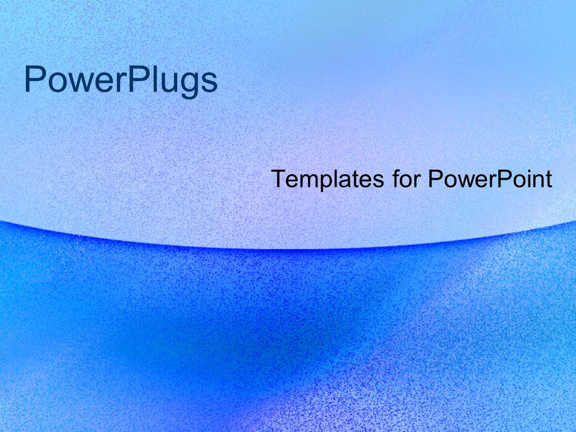Powerplugs Powerpoint Template With Plain Navy And Sky Blue Colored Background With A Blue Strip