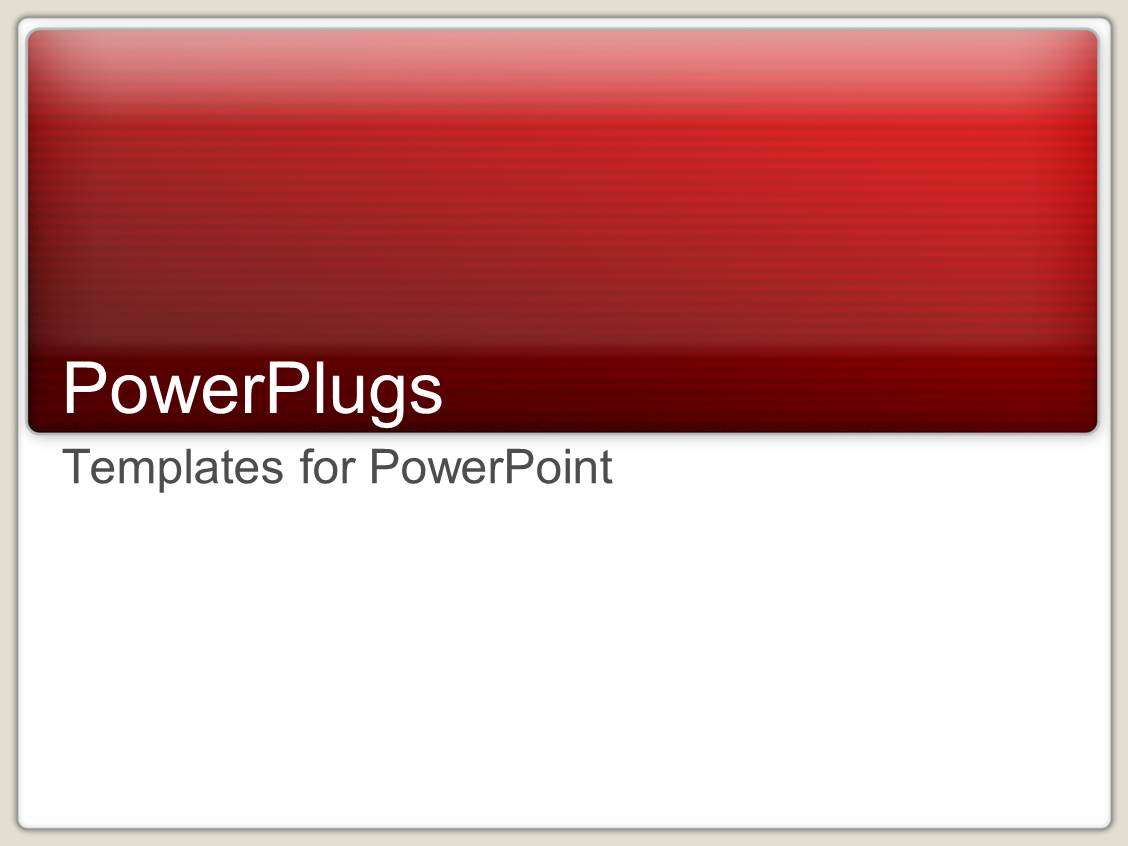 Powerpoint template a plain red colored bar on a white for Power plugs powerpoint templates