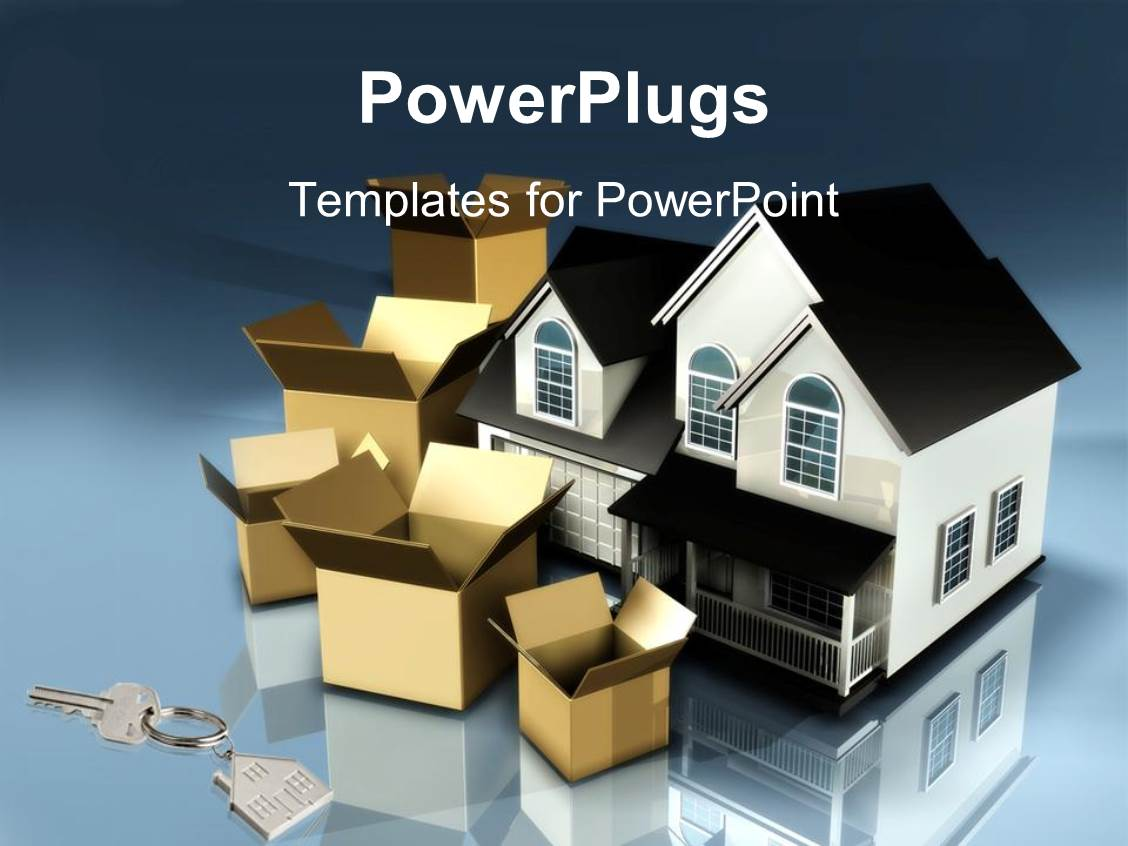Powerpoint template real estate image collections powerpoint powerpoint template planning to move houses moving boxes new keys powerpoint template displaying planning to move toneelgroepblik Gallery