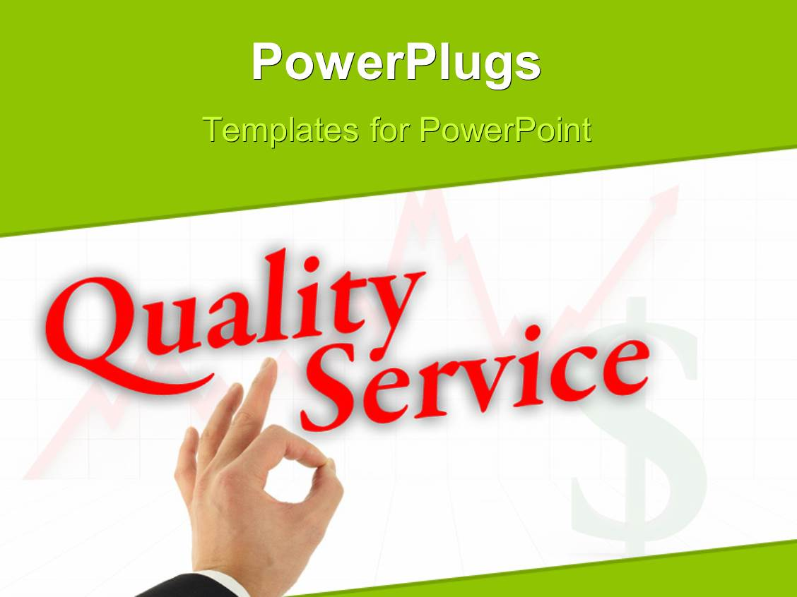 Powerpoint template quality control tick box with passed ticked audience pleasing slide deck with quality service with hand okay sign with dollar symbol and growth toneelgroepblik Images