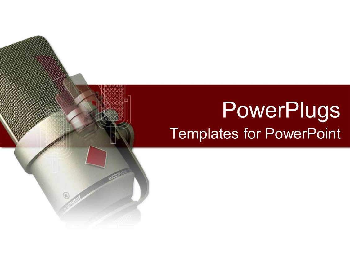 Powerpoint template a radio microphone with a white and red powerpoint template displaying a radio microphone with a white and red background toneelgroepblik Gallery
