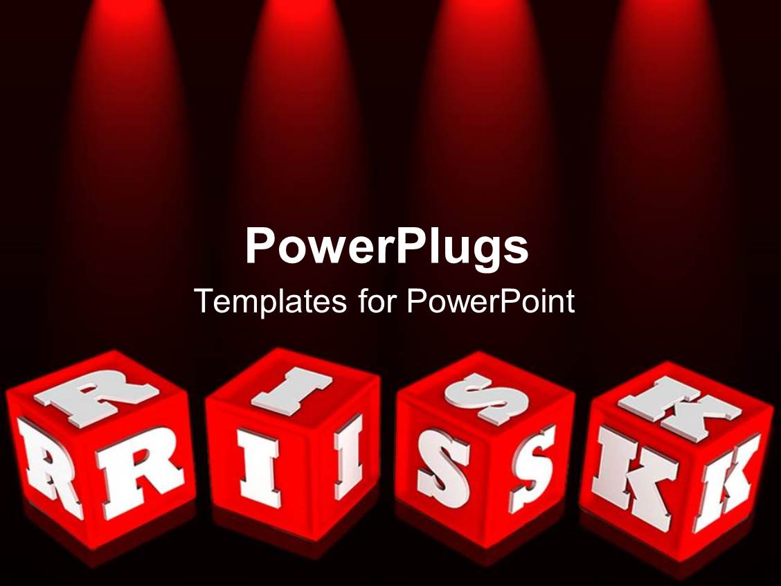 Free powerpoint templates 2529 html free ppt powerpoint templates - Powerplugs Powerpoint Template With Red Colored Alphabet Learning Blocks With White Risk Text