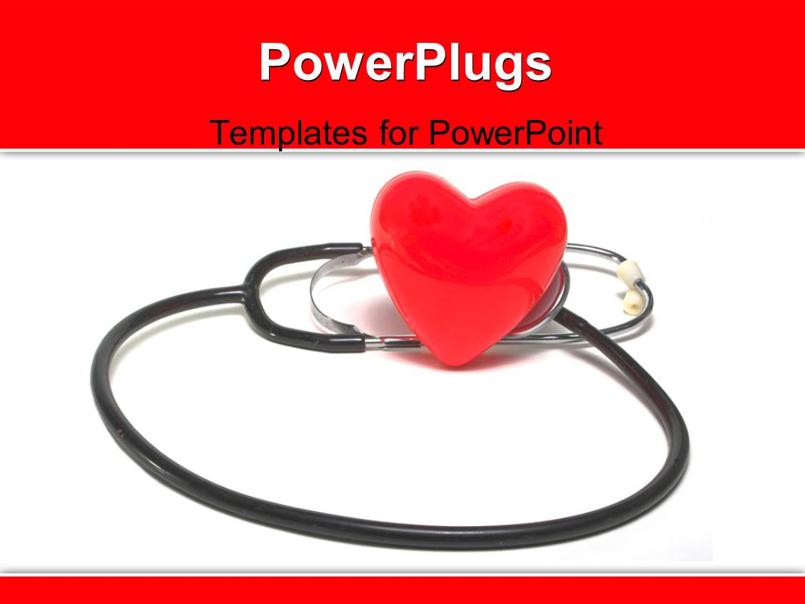 cardiovascular powerpoint template free - powerpoint template red heart symbols sitting beside