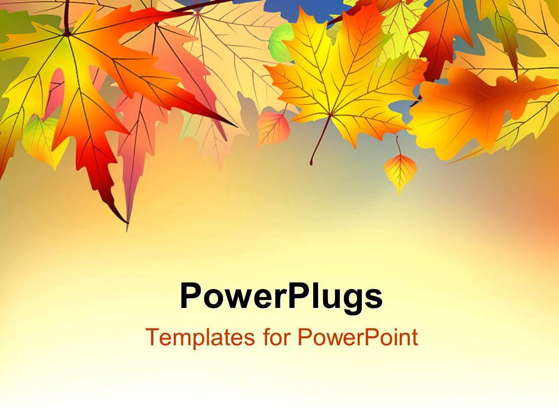 autumn themed powerpoint template image collections - powerpoint, Modern powerpoint