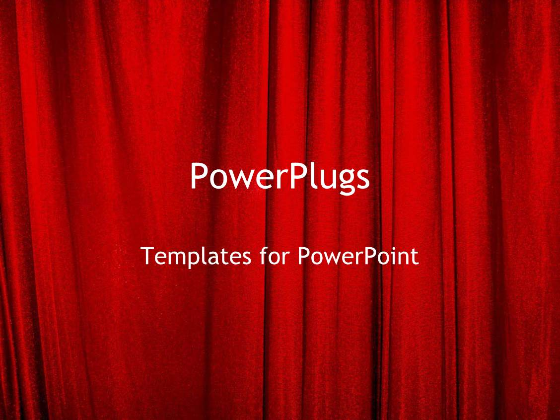 Red Curtain Background Powerpoint