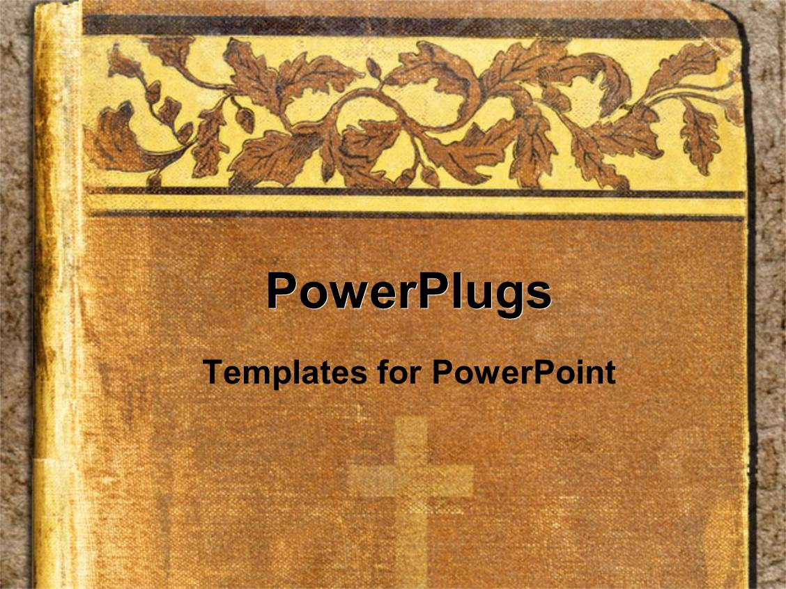 Powerpoint Backgrounds Book Cover : Powerpoint template religious book cover with cross and