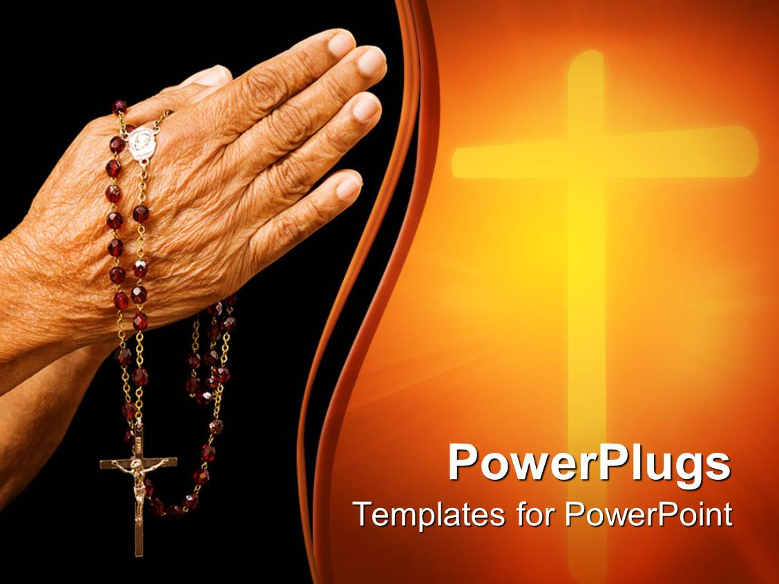 PowerPoint Template: religious depiction of old woman ...