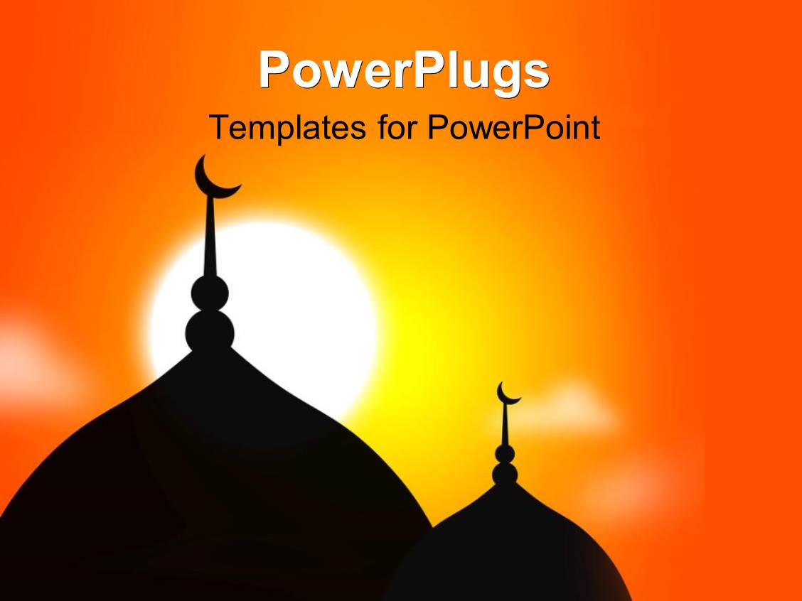 Arabic powerpoint templates crystalgraphics presentation theme with religious mosque silhouette during sunset muslim community template size toneelgroepblik Choice Image