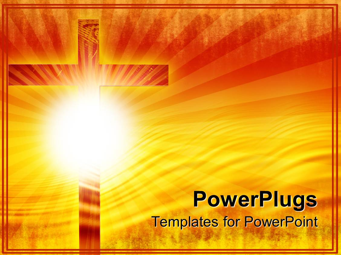 Cross powerpoint templates crystalgraphics i love this slides enhanced with religious theme with big wooden cross and sun with rays template size toneelgroepblik Image collections