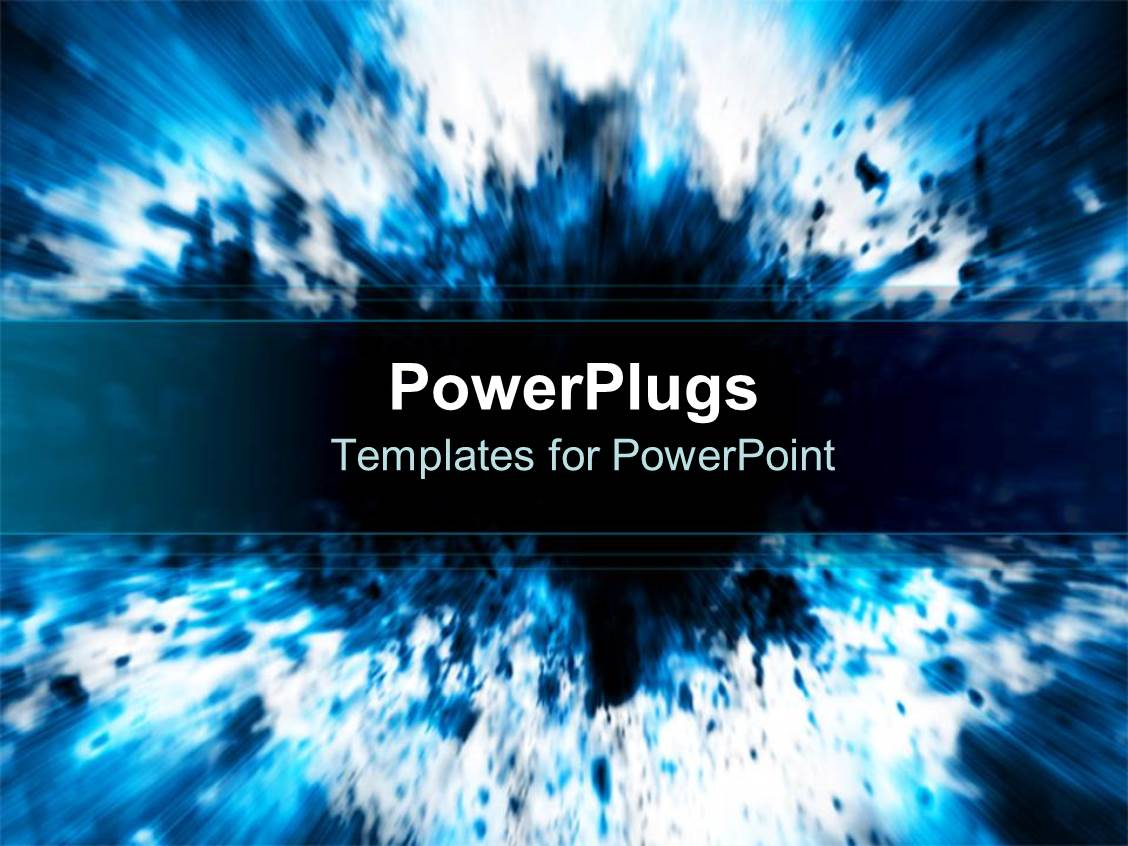 Explosion powerpoint templates crystalgraphics powerplugs powerpoint template with a representation of a blue explosion with place for text toneelgroepblik Images
