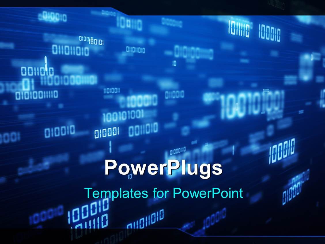powerpoint template a representation of various binary