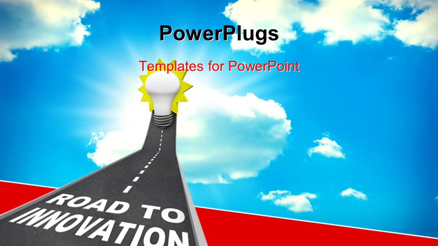 Powerpoint template road to innovation leading upward to a light powerpoint template displaying road to innovation leading upward to a light bulb representing imagination creativity toneelgroepblik Image collections
