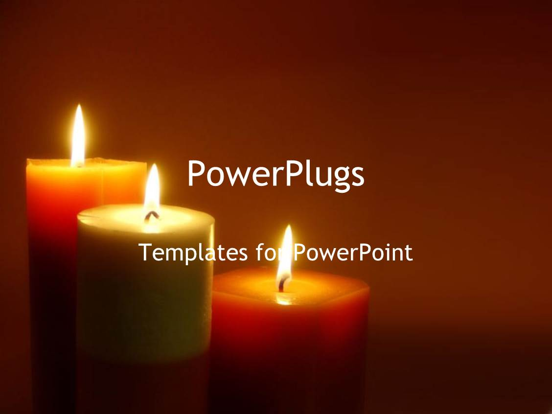 powerpoint template romantic lit candles mediation zen. Black Bedroom Furniture Sets. Home Design Ideas