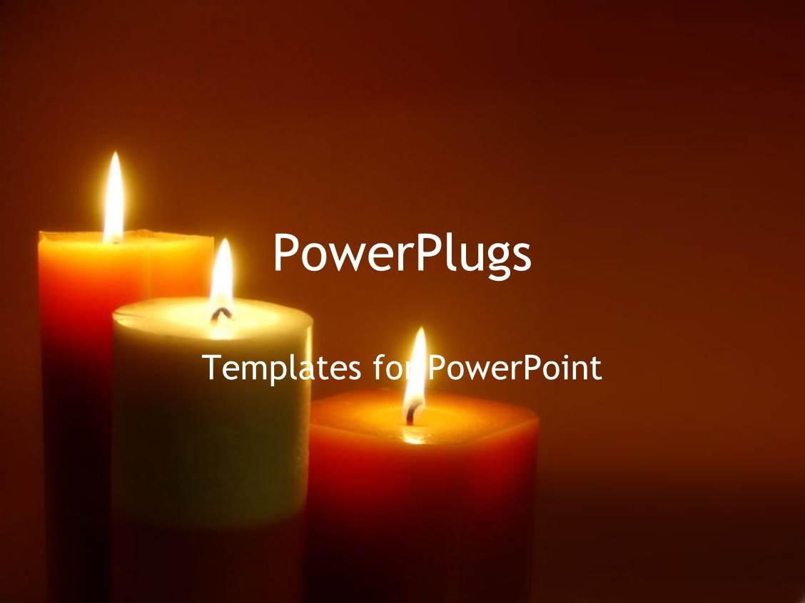 powerpoint template romantic lit candles mediation zen
