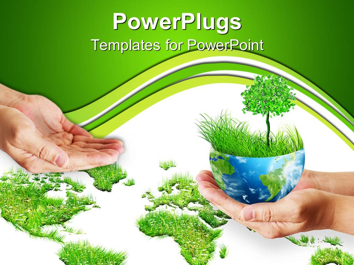 powerpoint template save the trees 11255