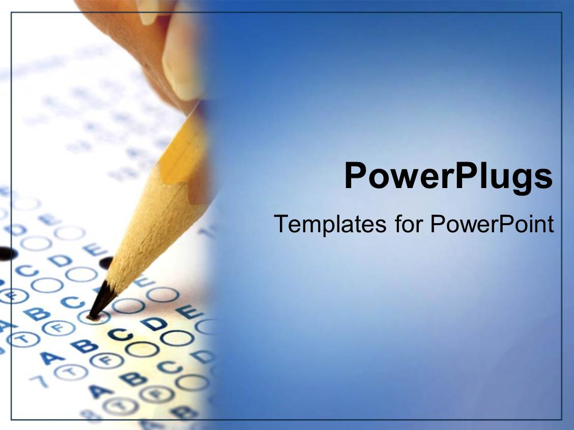 Powerpoint template scantron testing college students education powerpoint template displaying scantron testing college students education on blue background toneelgroepblik Image collections