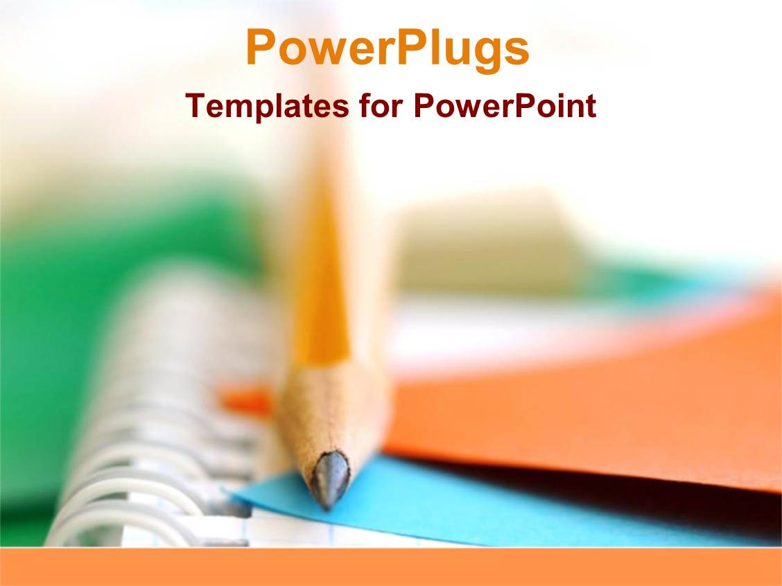 powerpoint template school and college writing pencils